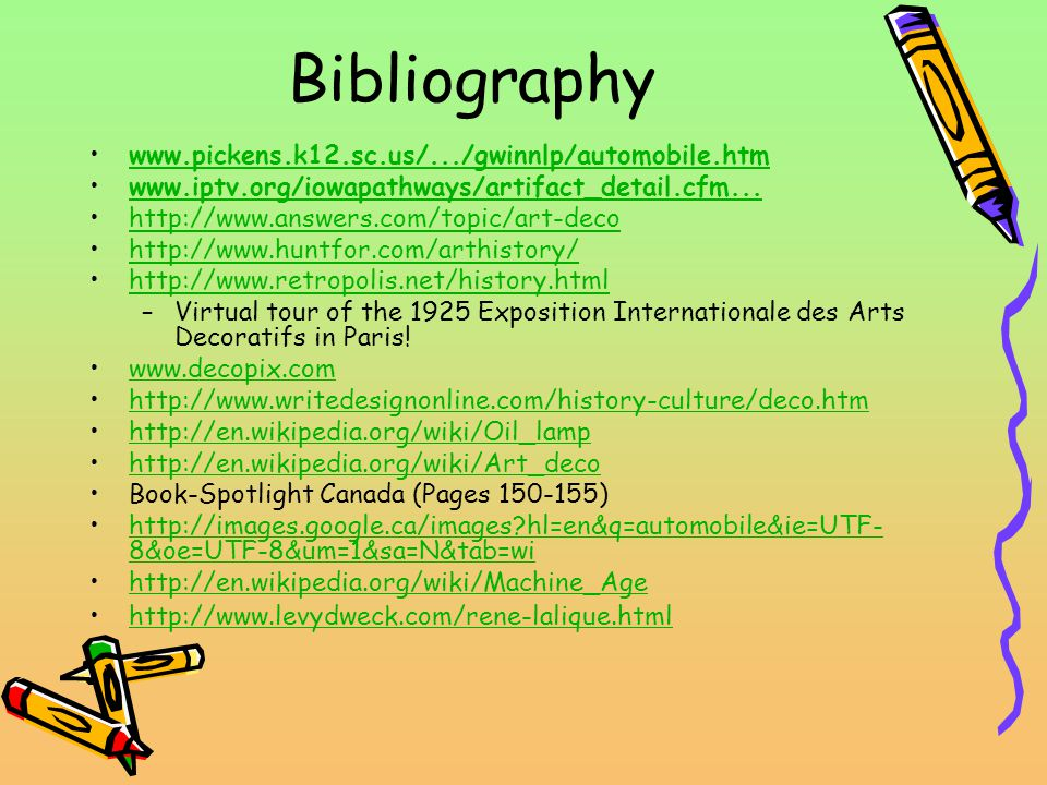 Bibliography www.pickens.k12.sc.us/.../gwinnlp/automobile.htm www.iptv.org/iowapathways/artifact_detail.cfm...