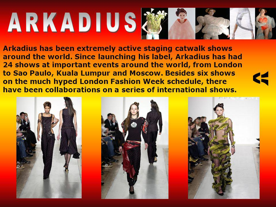 Arkadius has been extremely active staging catwalk shows around the world.