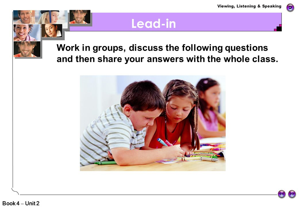 Lead-in Matching Game Brainstorming Watching and Discussing Debating Idea Sharing Fun Time Oral Assignment Contents Book 4 – Unit 2