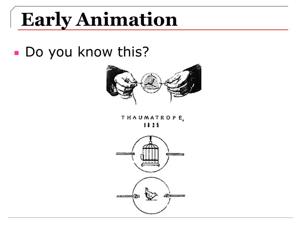 Early Animation Do you know this?