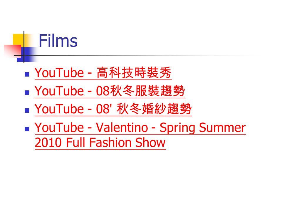 Films YouTube - YouTube - 08 YouTube - 08' YouTube - Valentino - Spring Summer 2010 Full Fashion Show YouTube - Valentino - Spring Summer 2010 Full Fa
