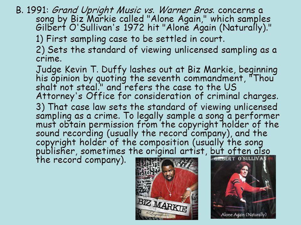 B. 1991: Grand Upright Music vs. Warner Bros.