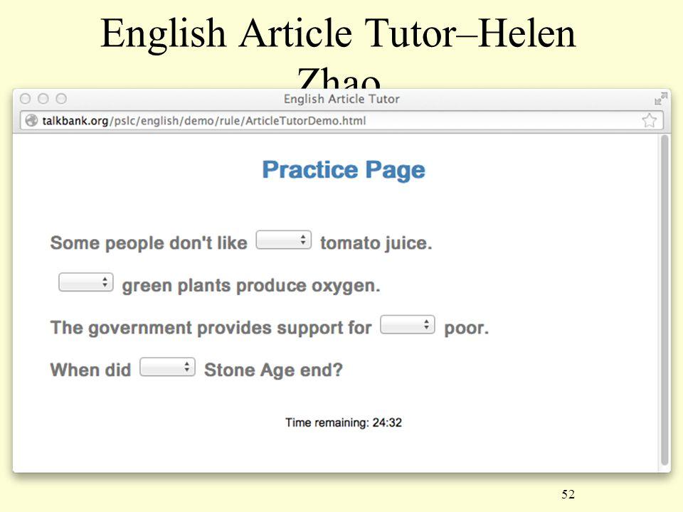 52 English Article Tutor–Helen Zhao