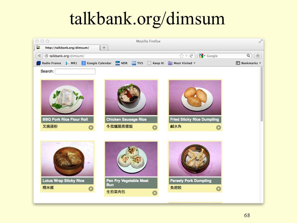 68 talkbank.org/dimsum
