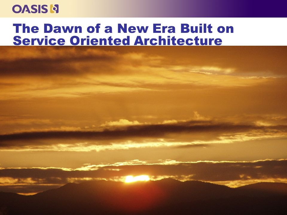 Standardizing SOA & Web Services Cross-Functionally For communities and across industries: n ebSOA: e-Business Service Oriented Architecture Advancing an e Business architecture that builds on ebXML and other Web services technology.