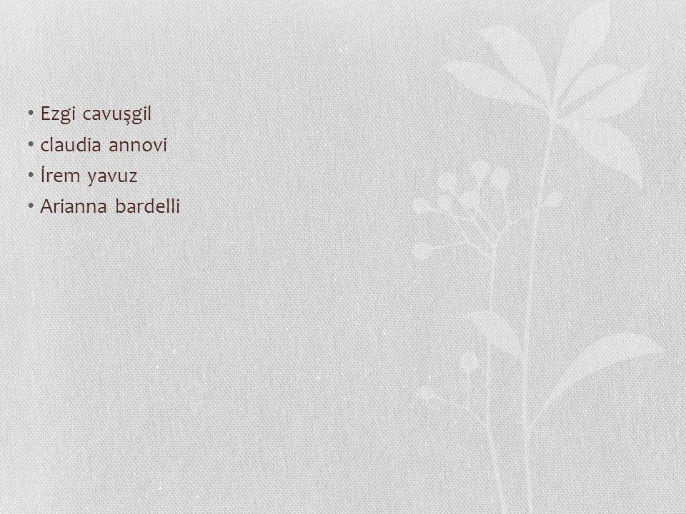 Ezgi cavuşgil claudia annovi İrem yavuz Arianna bardelli