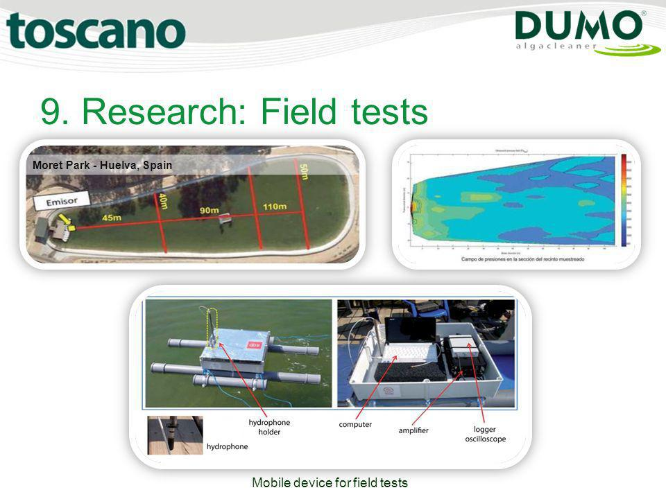 9. Research: Field tests Moret Park - Huelva, Spain Mobile device for field tests