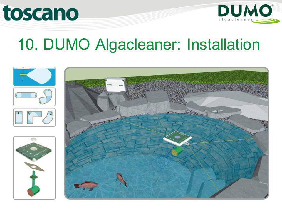 10. DUMO Algacleaner: Installation