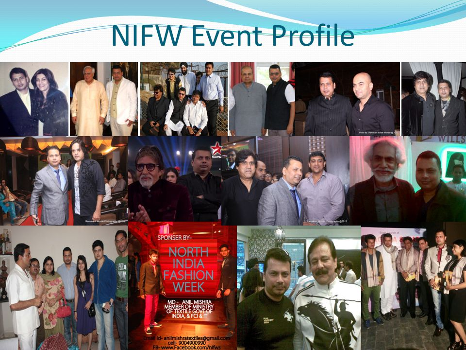 About NIFW North India Fashion Week Founded on the principles of being an integrated company in Fashion & Lifestyle industry, with philosophy of concept to commissioning , NIFW operates in the business verticals of – Events, Fashion Week, Exposition, Retail and Consulting.