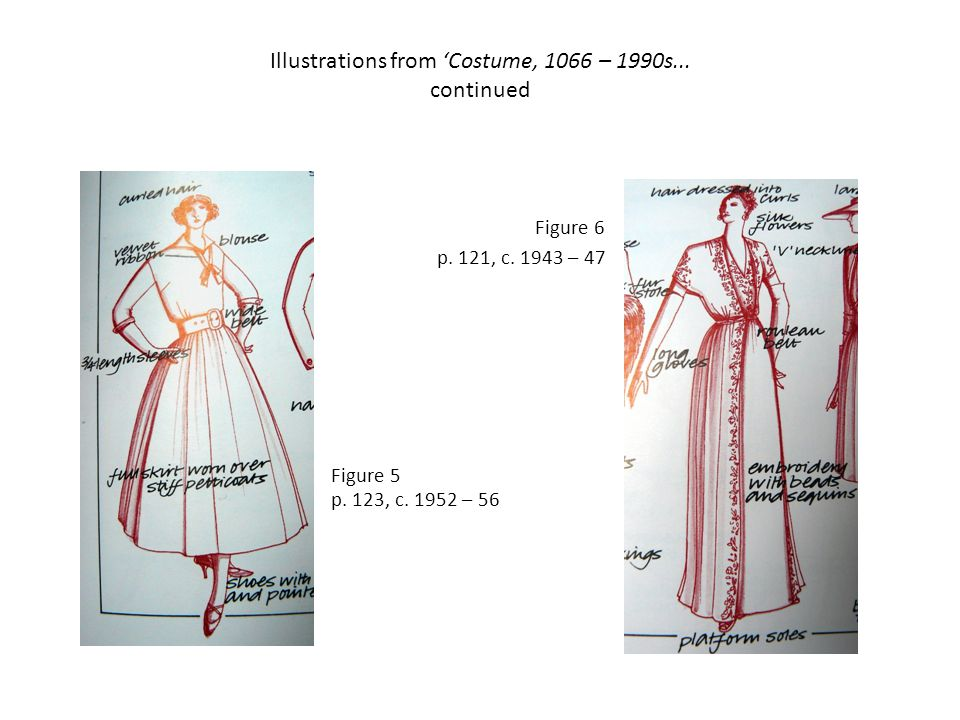 Illustrations from Costume, 1066 – 1990s... continued Figure 5 p.