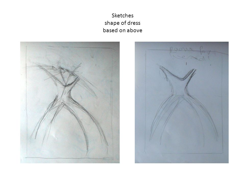 Sketches shape of dress based on above