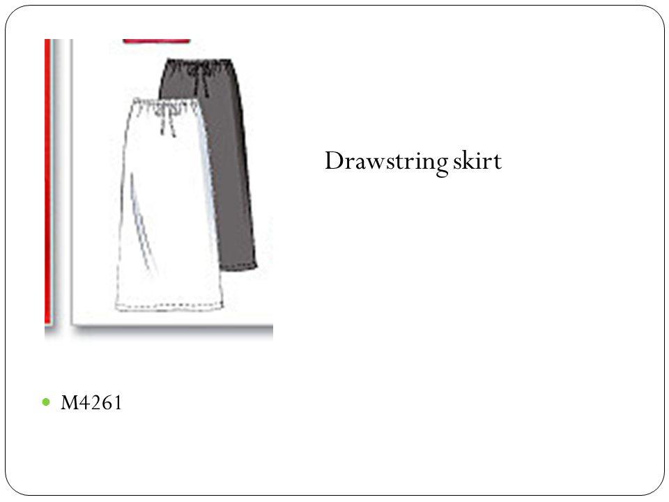 M4261 Drawstring skirt