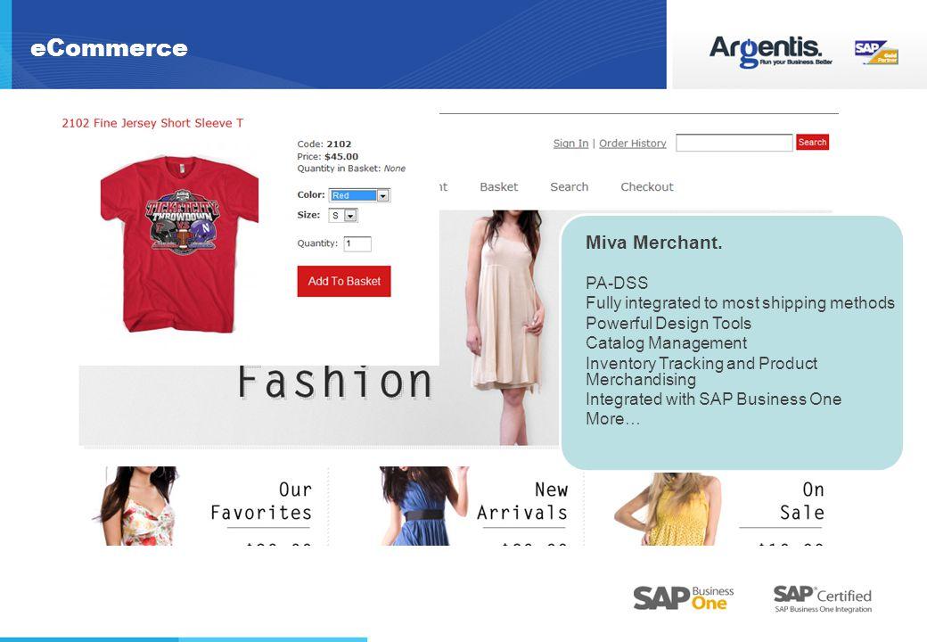 eCommerce Miva Merchant.