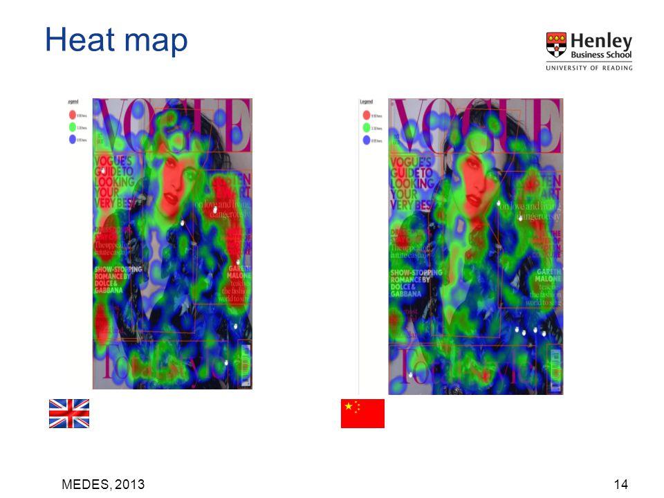 MEDES, 201314 Heat map