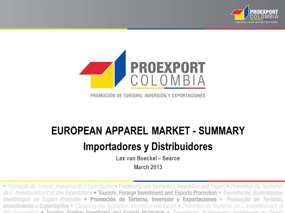EU APPAREL MARKET SUB-SECTORS Knitted and woven clothing