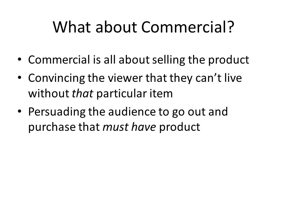 What about Commercial.