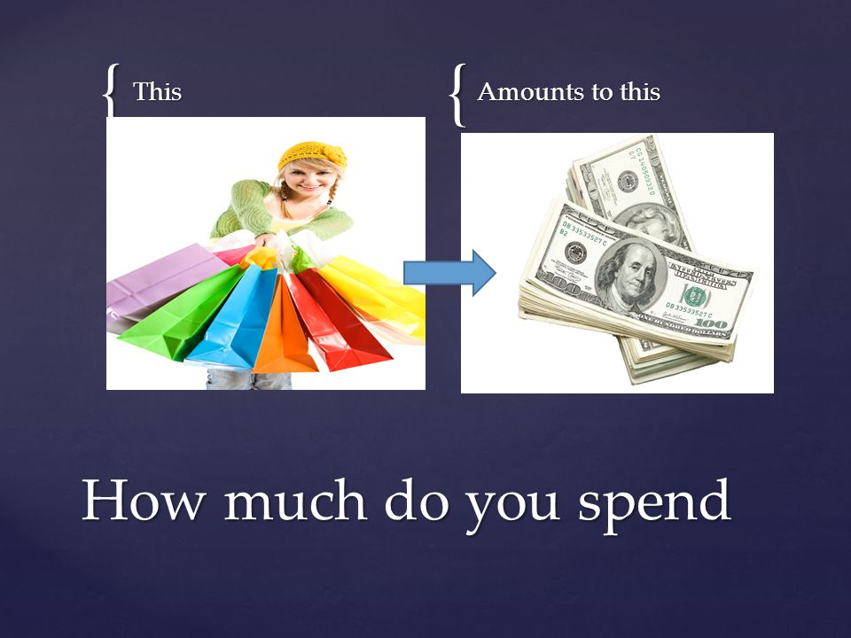{{ ThisAmounts to this How much do you spend