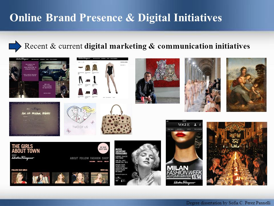 Online Brand Presence & Digital Initiatives Recent & current digital marketing & communication initiatives Degree dissertation by Sofìa C.