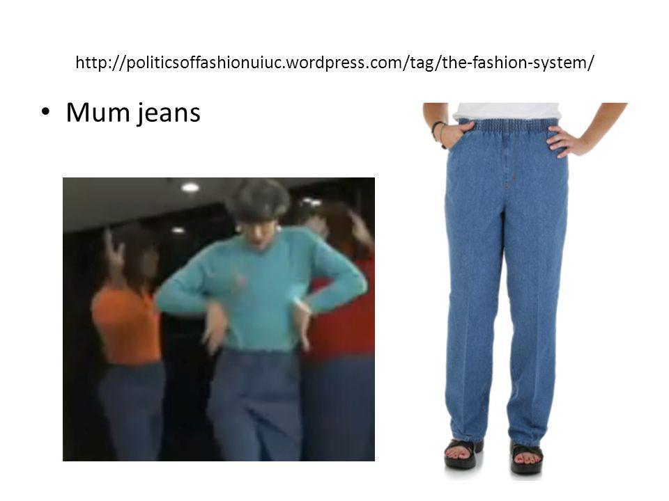 http://politicsoffashionuiuc.wordpress.com/tag/the-fashion-system/ Mum jeans