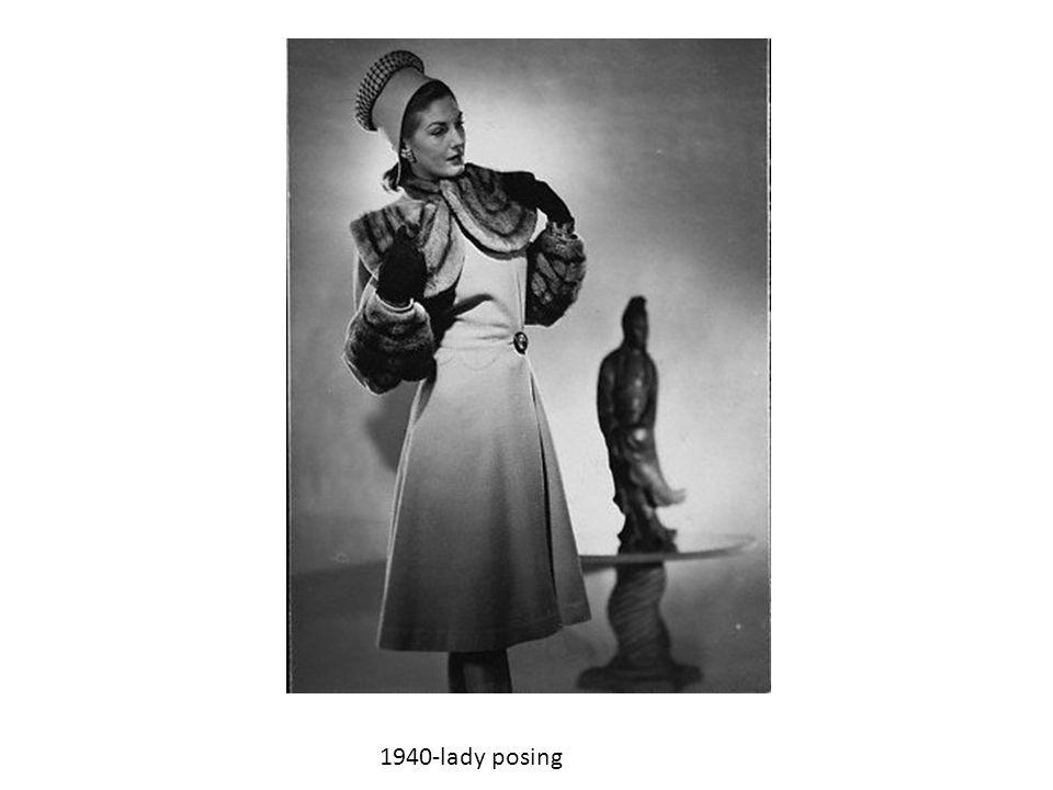 1940-lady posing