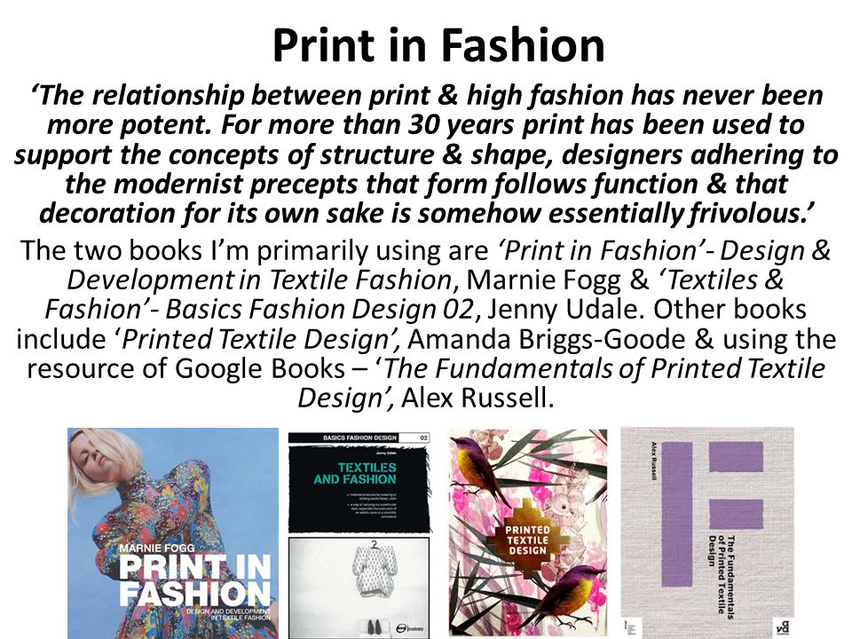 Print in Fashion The relationship between print & high fashion has never been more potent.