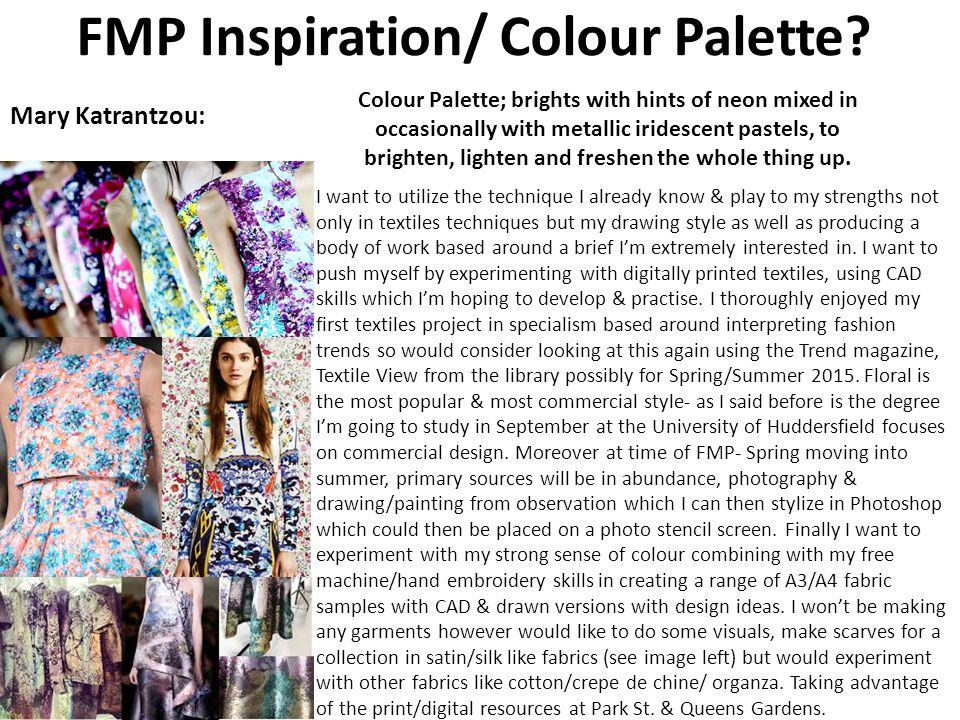 FMP Inspiration/ Colour Palette.