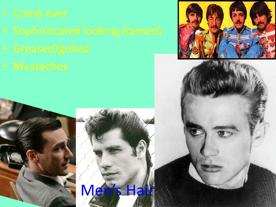 Mens Hair Comb over Sophisticated looking (tamed) Greased/gelled Mustaches