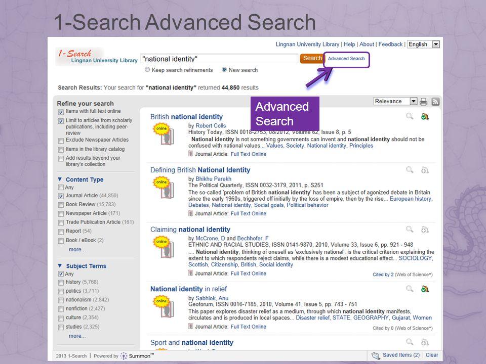 1-Search Advanced Search Advanced Search