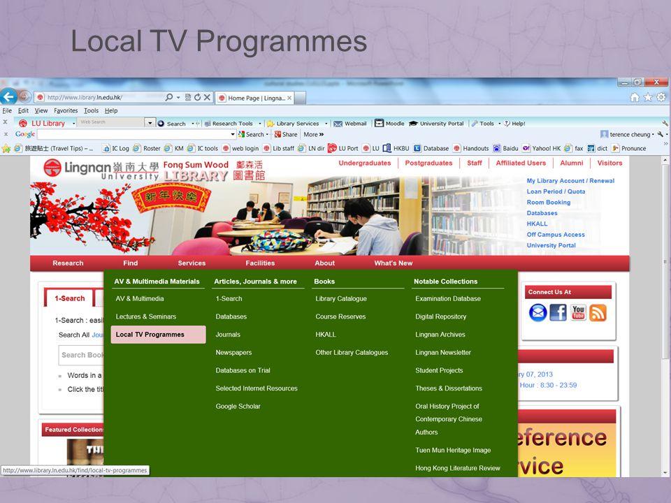 Local TV Programmes
