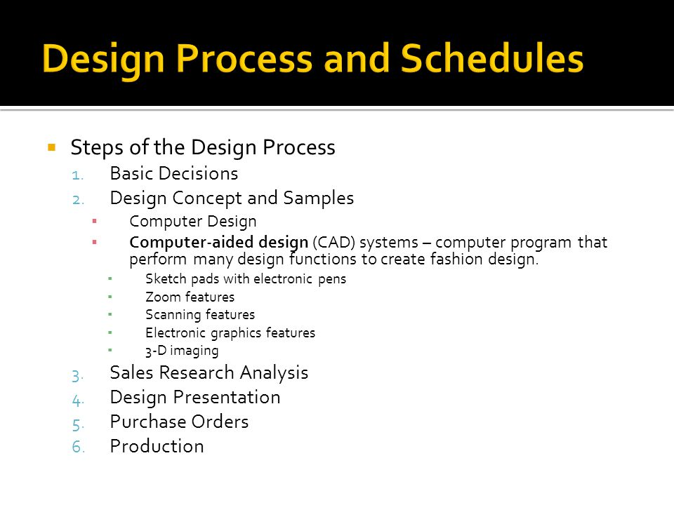 Steps of the Design Process 1.Basic Decisions 2.