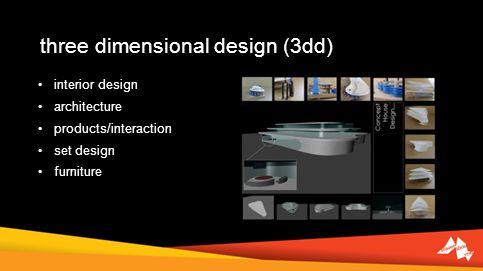 three dimensional design (3dd) interior design architecture products/interaction set design furniture