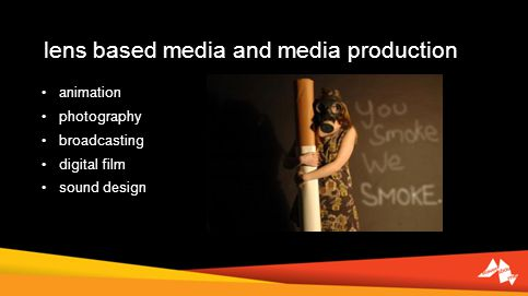 lens based media and media production animation photography broadcasting digital film sound design