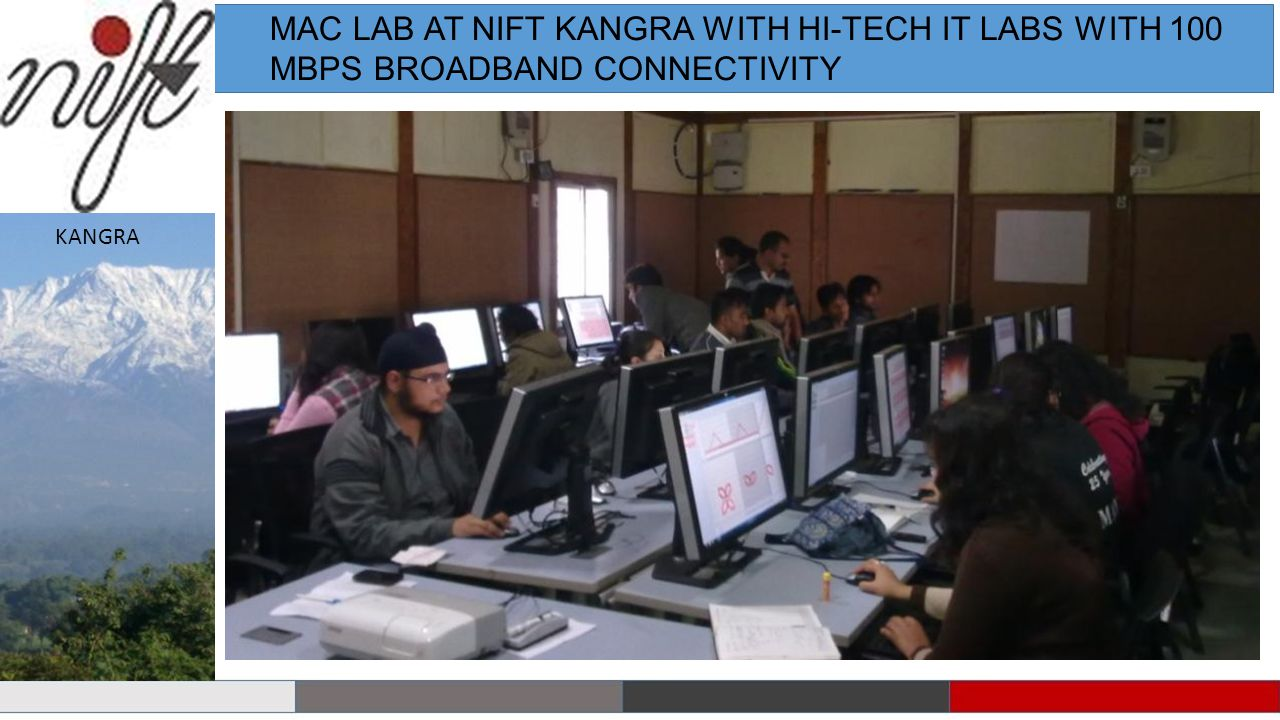 MAC LAB AT NIFT KANGRA WITH HI-TECH IT LABS WITH 100 MBPS BROADBAND CONNECTIVITY KANGRA