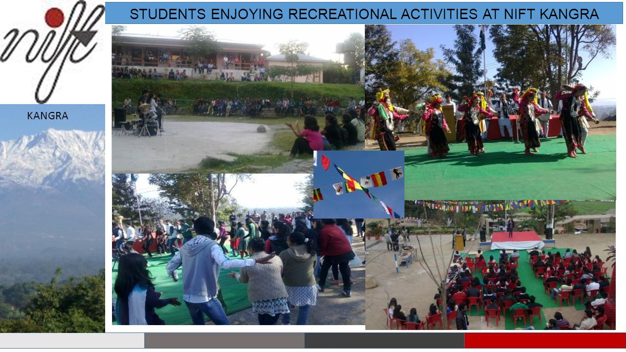 STUDENTS ENJOYING RECREATIONAL ACTIVITIES AT NIFT KANGRA KANGRA