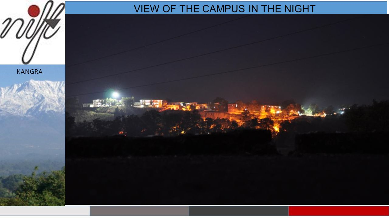 VIEW OF THE CAMPUS IN THE NIGHT KANGRA