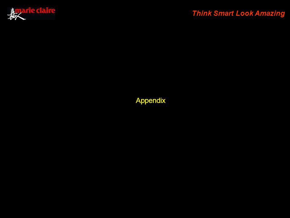 Think Smart Look Amazing Appendix