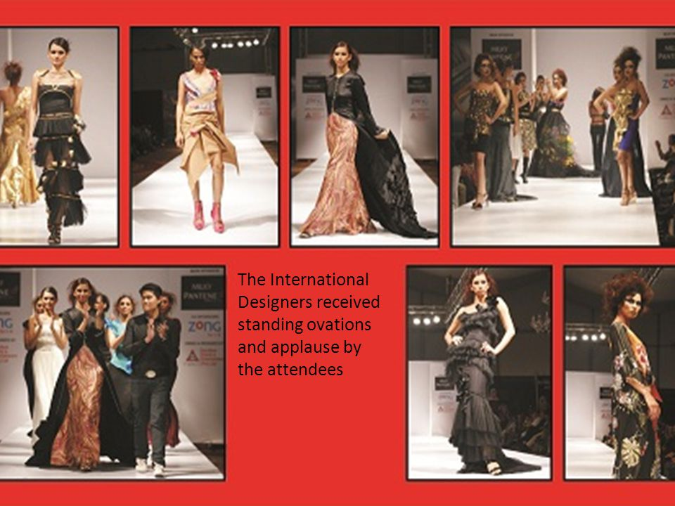 The International Designers received standing ovations and applause by the attendees