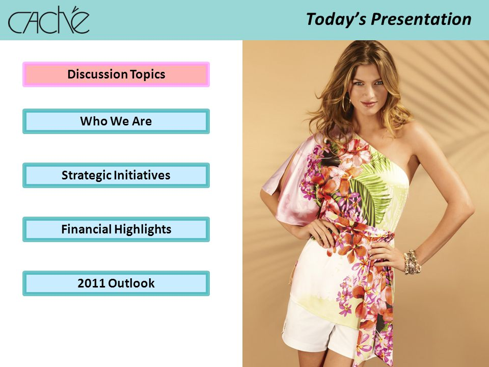 3 Todays Presentation Discussion Topics Who We Are Strategic Initiatives Financial Highlights 2011 Outlook
