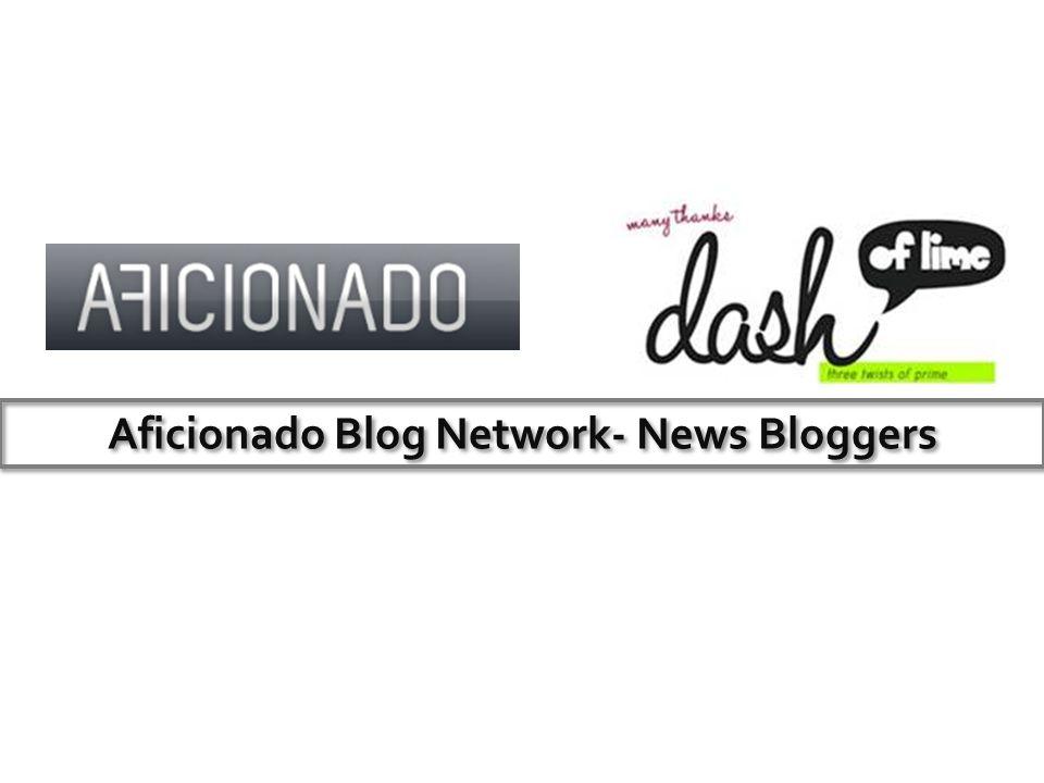 Aficionado Blog Network- News Bloggers