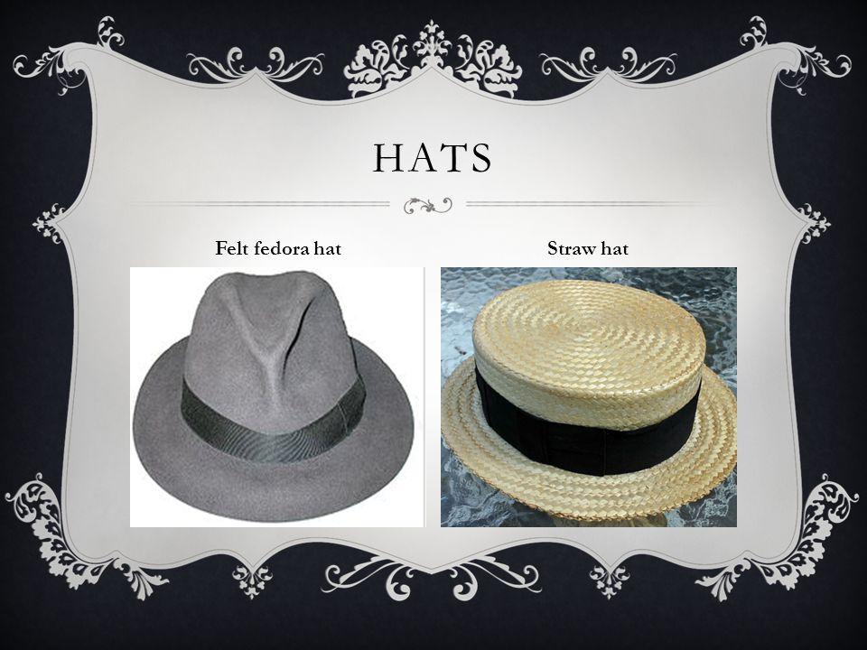 HATS Felt fedora hat Straw hat