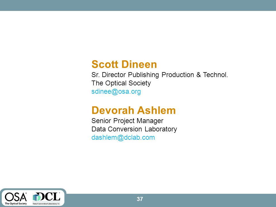Scott Dineen Sr. Director Publishing Production & Technol.