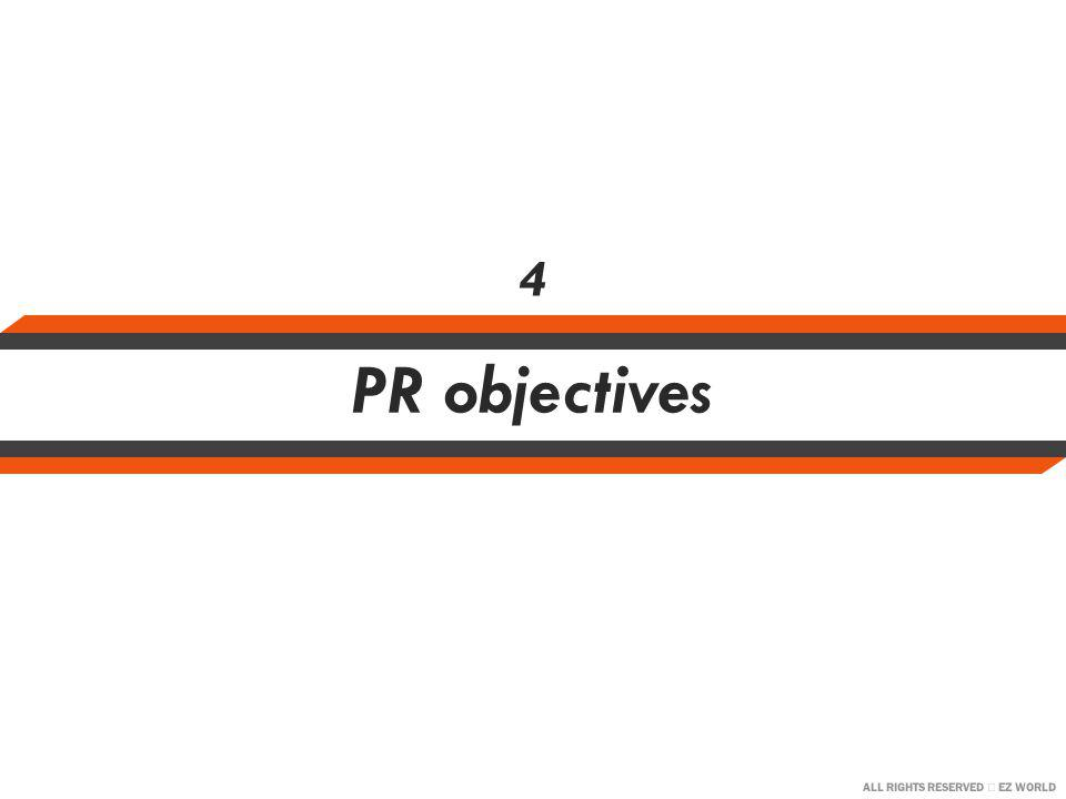 ALL RIGHTS RESERVED EZ WORLD PR objectives 4