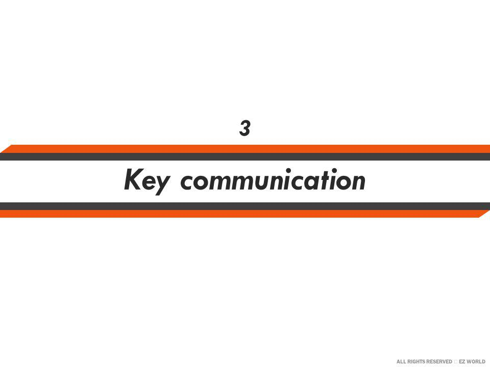 ALL RIGHTS RESERVED EZ WORLD Key communication 3