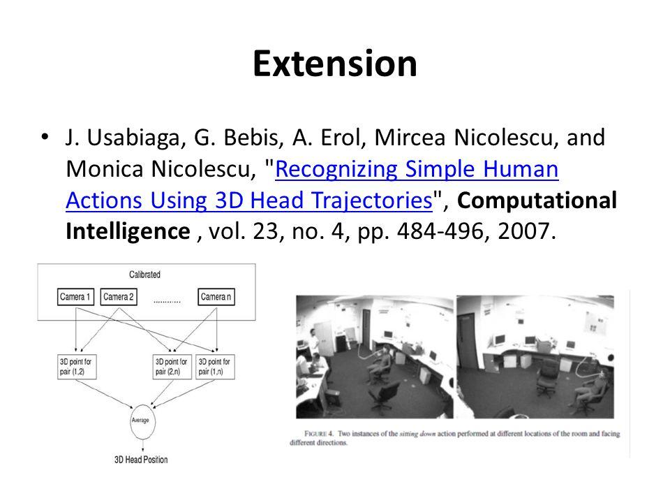 Extension J. Usabiaga, G. Bebis, A. Erol, Mircea Nicolescu, and Monica Nicolescu,