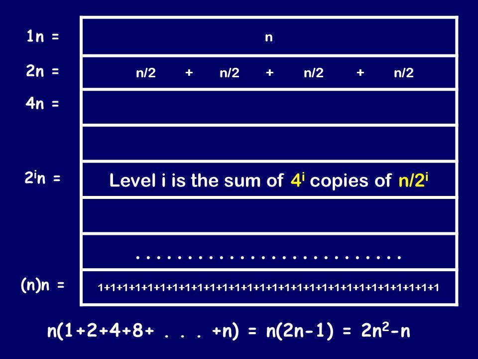 n n/2 + n/2 + n/2 + n/2.............