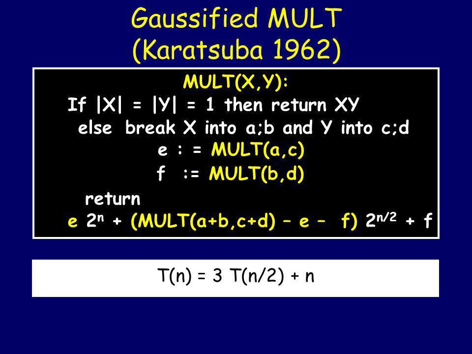 Karatsuba, Anatolii Alexeevich (1937-2008) In 1962 Karatsuba had formulated the first mult.
