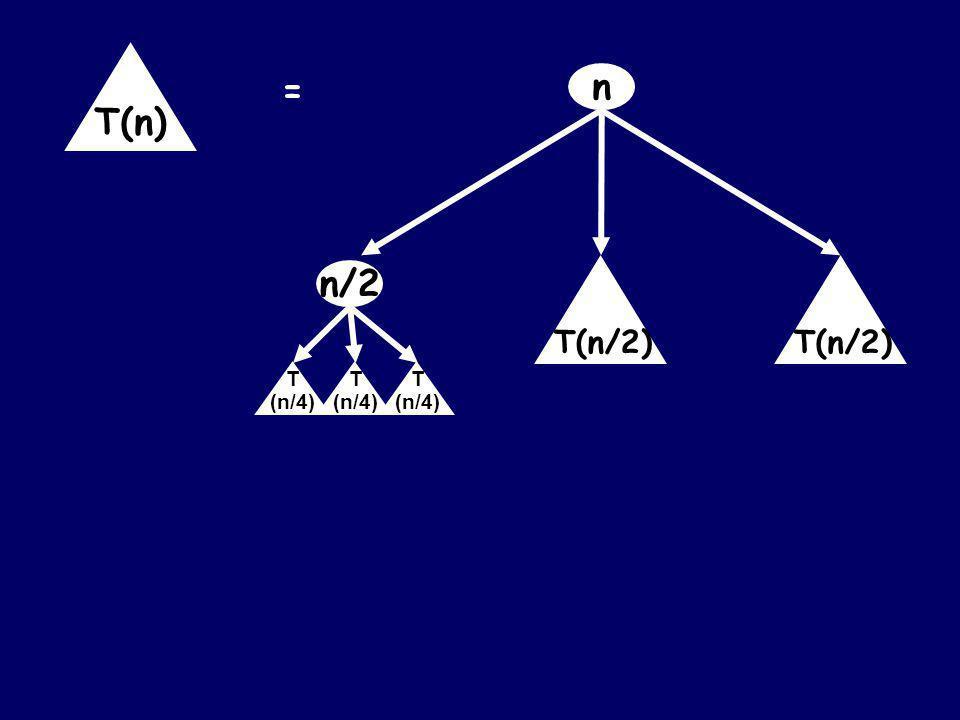 n = T(n) T(n/2)