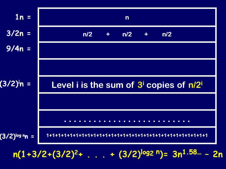 n n/2 + n/2 + n/2.............