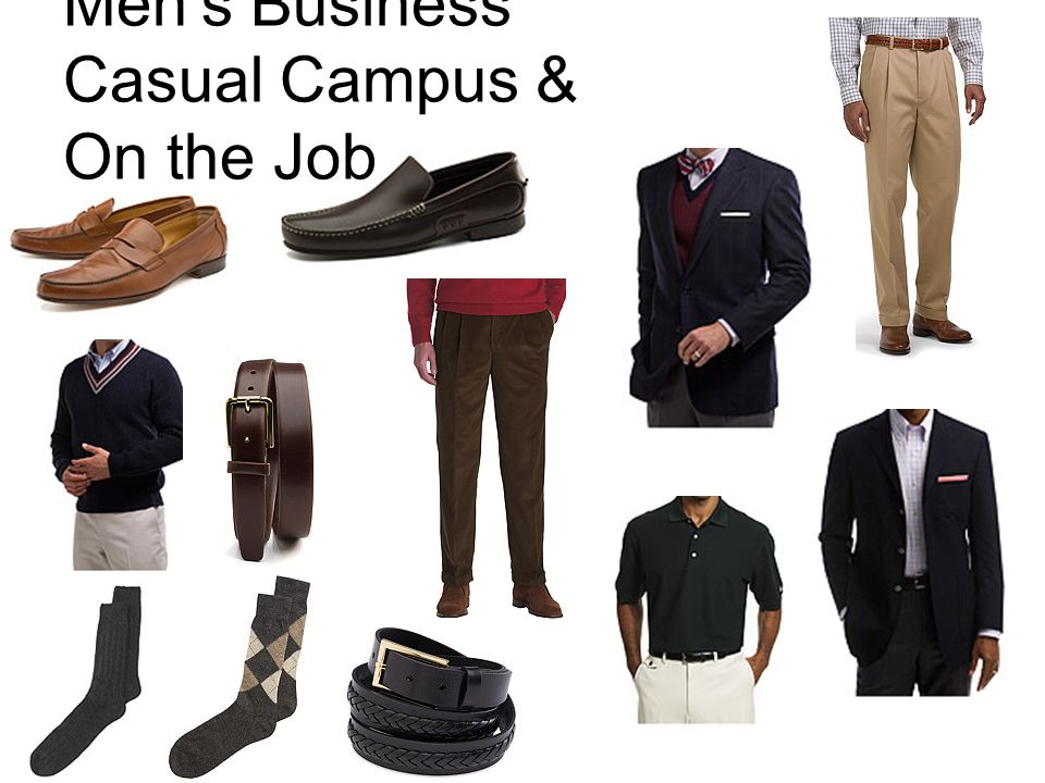 Mens Business Casual Campus & On the Job