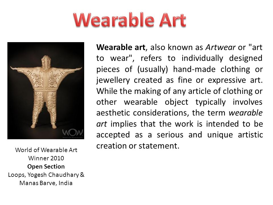 Wearable Art the body materials signs & symbols function